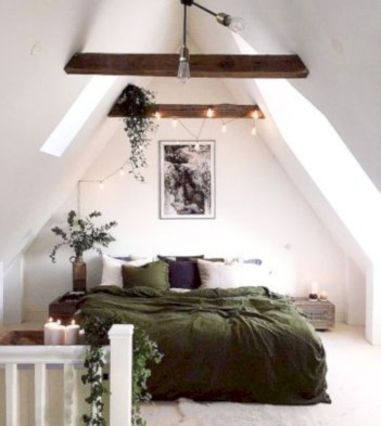 Wonderful green bedroom design decor ideas (1)