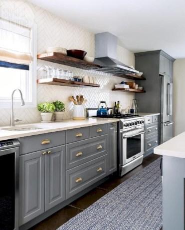 Beautiful gray kitchen cabinets design ideas 06