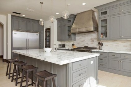 Beautiful gray kitchen cabinets design ideas 07