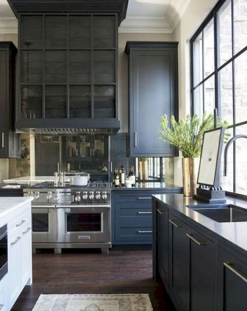 Beautiful gray kitchen cabinets design ideas 28
