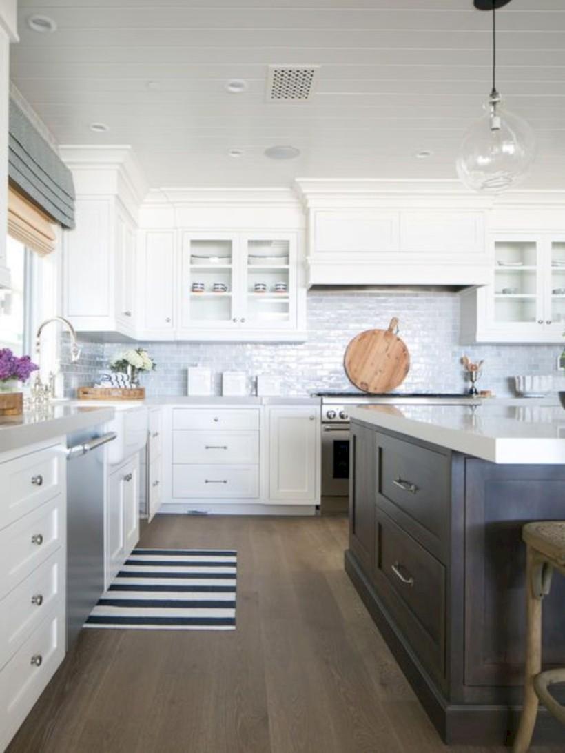 Beautiful gray kitchen cabinets design ideas 38