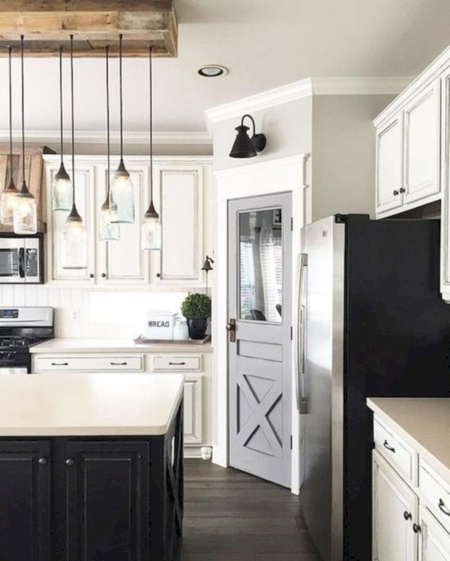 Beautiful gray kitchen cabinets design ideas 45