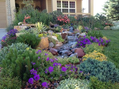 Beautiful rock garden landscaping ideas 26