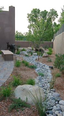 Beautiful rock garden landscaping ideas 46