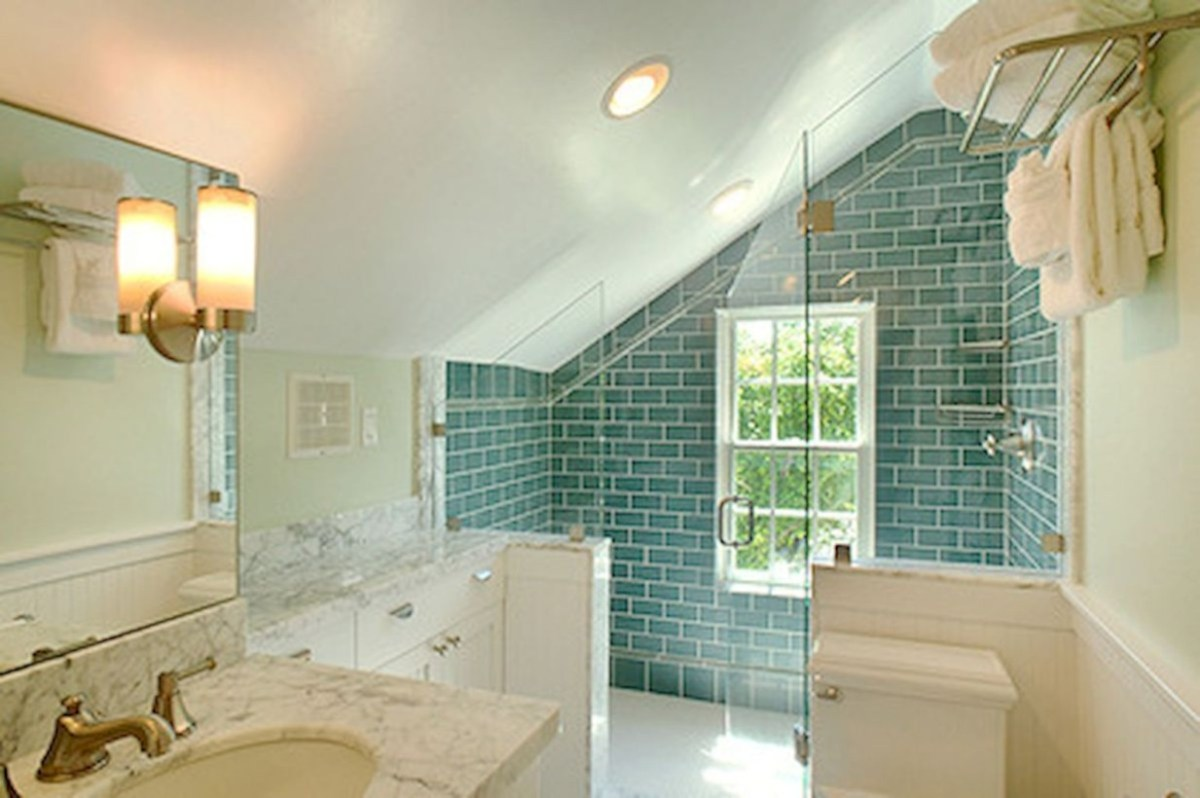 Cool attic bathroom remodel ideas 13