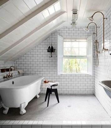 Cool attic bathroom remodel ideas 17