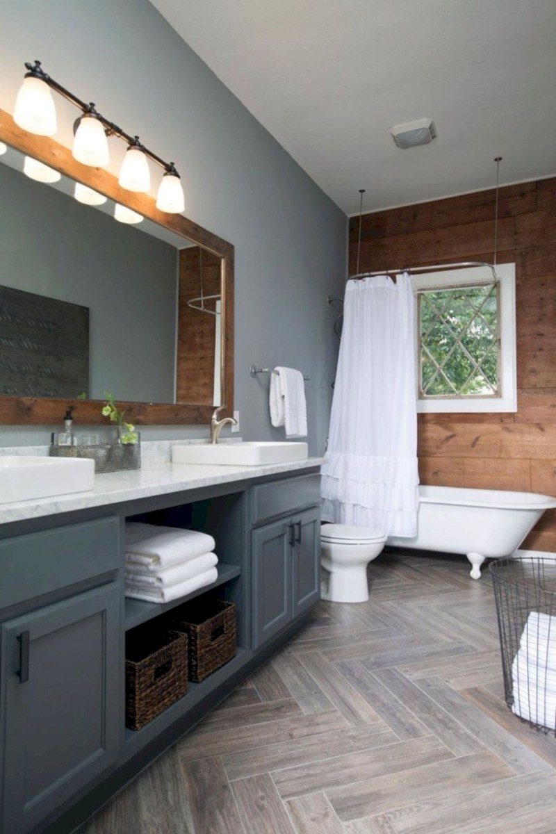 Cool attic bathroom remodel ideas 22