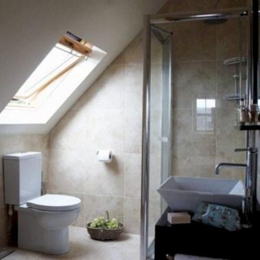Cool attic bathroom remodel ideas 33