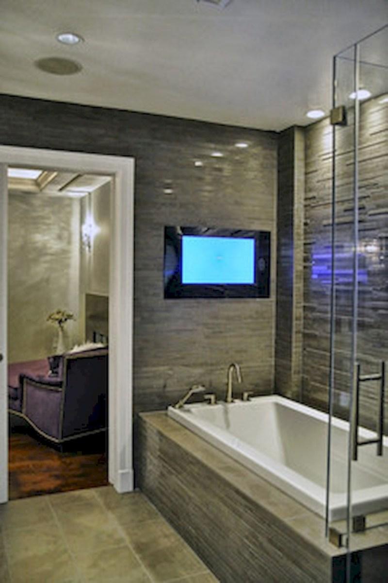 Cool attic bathroom remodel ideas 38