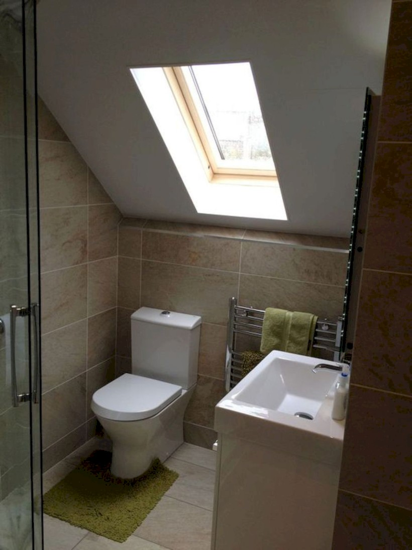Cool attic bathroom remodel ideas 42