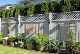 Easy and cheap backyard privacy fence design ideas 27