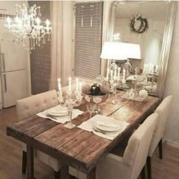 Genius small dining room table design ideas 34