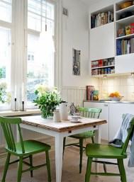 Genius small dining room table design ideas 43
