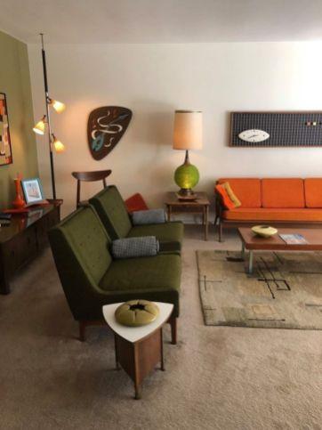 Mid century modern living room furniture ideas 43