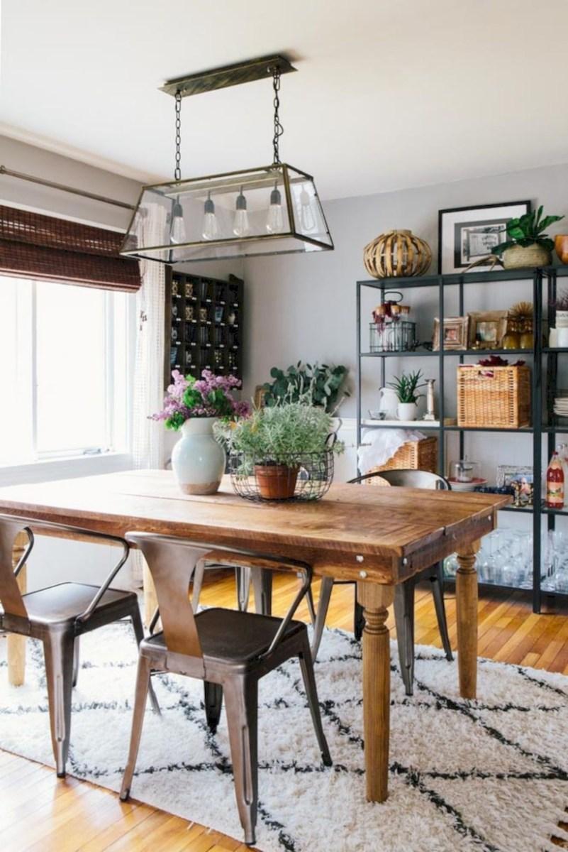 Rustic farmhouse dining room table decor ideas 04