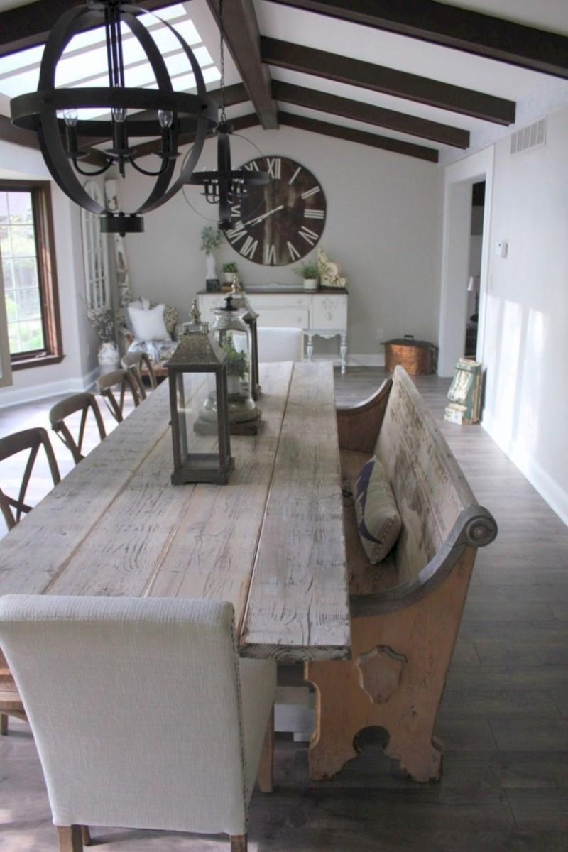 Rustic farmhouse dining room table decor ideas 15