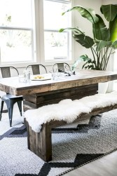 Rustic farmhouse dining room table decor ideas 23