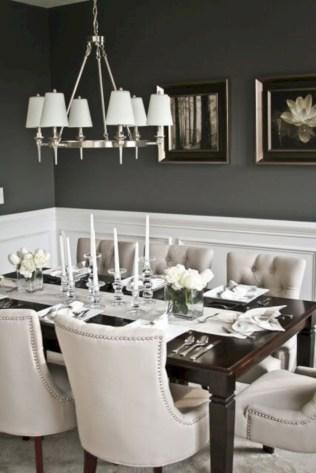 Rustic farmhouse dining room table decor ideas 33