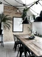 Rustic farmhouse dining room table decor ideas 38