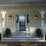 Rustic farmhouse porch steps decor ideas 01