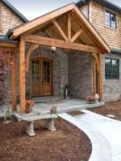 Rustic farmhouse porch steps decor ideas 03