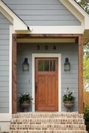 Rustic farmhouse porch steps decor ideas 11