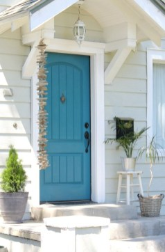 Rustic farmhouse porch steps decor ideas 45