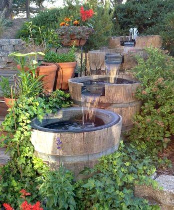 46 Small Backyard Waterfall Design Ideas - Round Decor