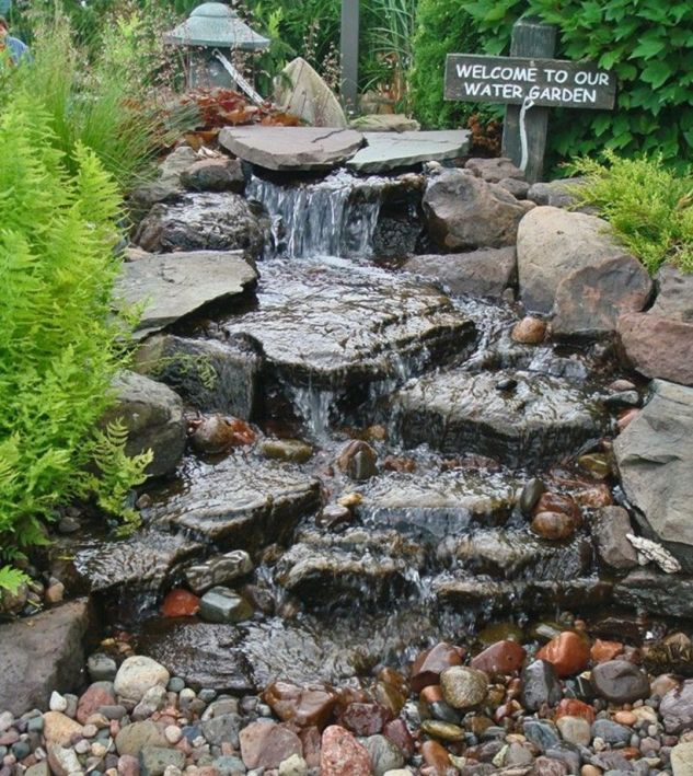 Small backyard waterfall design ideas 14
