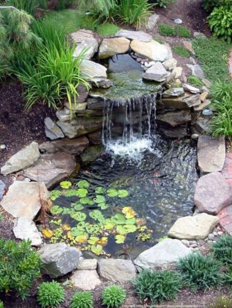 Small backyard waterfall design ideas 23