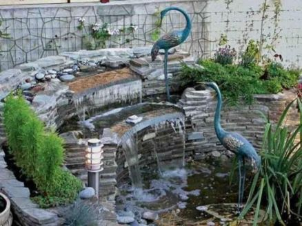 Small backyard waterfall design ideas 24