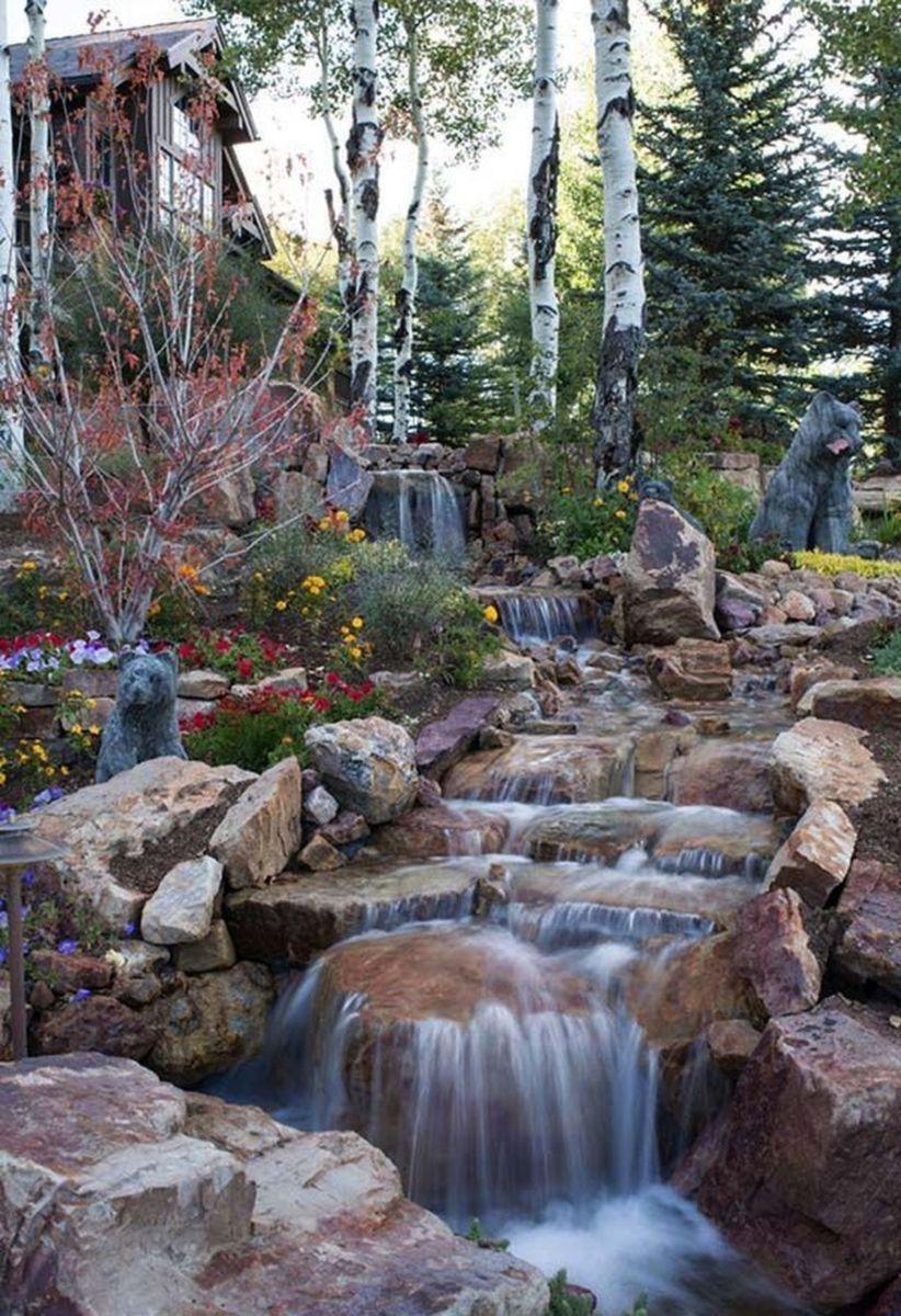 Small backyard waterfall design ideas 25 - ROUNDECOR