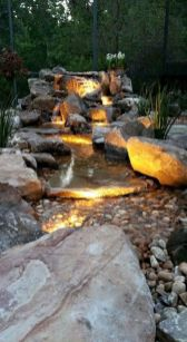 Small backyard waterfall design ideas 26