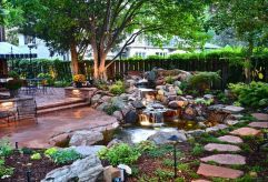 Small backyard waterfall design ideas 34