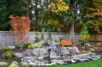 Small backyard waterfall design ideas 38
