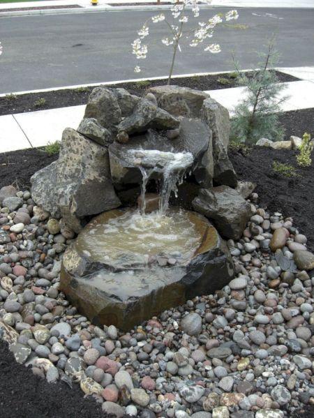 Small backyard waterfall design ideas 44