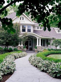 Stunning front yard entrance path walkway landscaping ideas 03