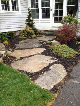 Stunning front yard entrance path walkway landscaping ideas 31