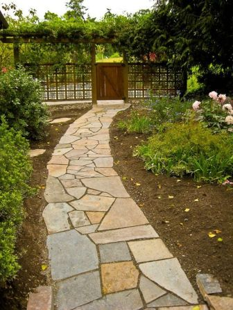 Stunning front yard entrance path walkway landscaping ideas 36