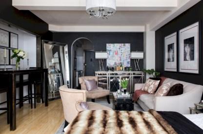 Stylish apartment studio decor furniture ideas 18