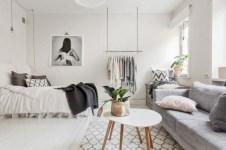 Stylish apartment studio decor furniture ideas 24