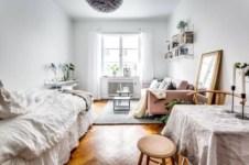 Stylish apartment studio decor furniture ideas 25