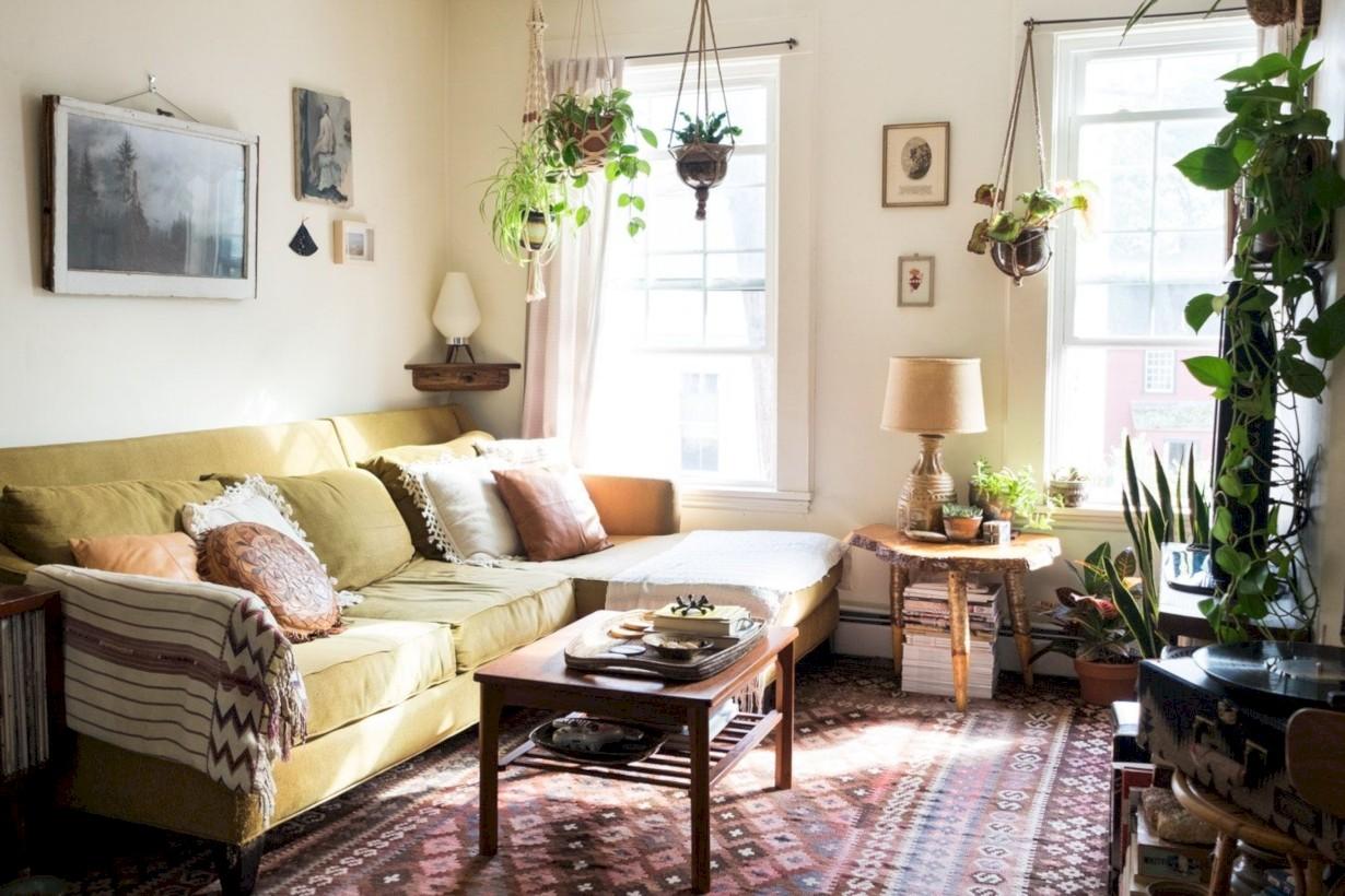 Totally inspiring boho living room ideas 41