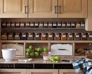 Affordable kitchen cabinet organization hack ideas (12)