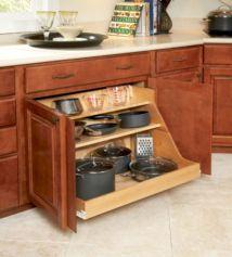 Affordable kitchen cabinet organization hack ideas (16)