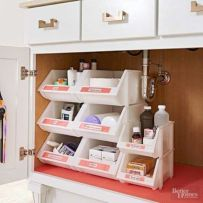 Affordable kitchen cabinet organization hack ideas (34)