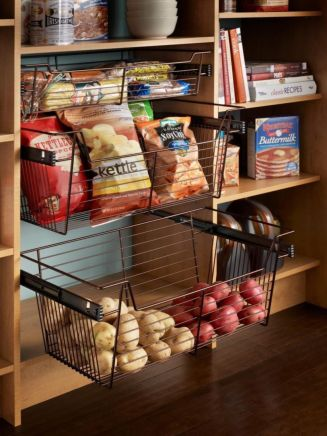 Affordable kitchen cabinet organization hack ideas (39)