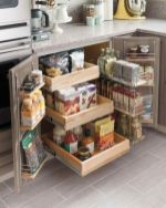 Affordable kitchen cabinet organization hack ideas (41)
