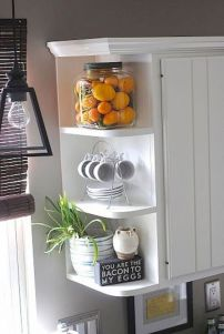 Affordable kitchen cabinet organization hack ideas (7)