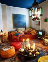 Amazing bohemian style living room decor ideas (21)